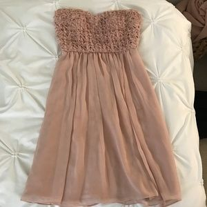 Calvin Klein rosebud chiffon mini dress